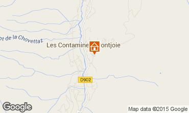 Mapa Les Contamines Montjoie Apartamento 74055