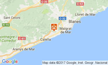 Mapa Pineda de Mar Chalet 45875