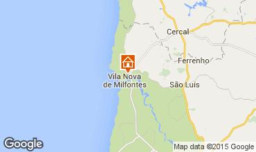 Mapa Vila nova de Milfontes Villa 46746