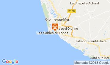 Mapa Les  Sables d'Olonne Apartamento 114771