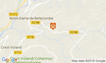 Mapa Notre Dame de Bellecombe Chalet 113667