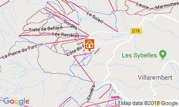 Mapa La Toussuire Apartamento 116507