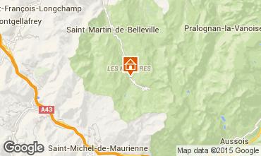 Mapa Les Menuires Chalet 101541