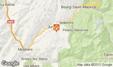 Mapa La Plagne Casa rural 19942