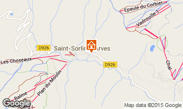 Mapa Saint Sorlin d'Arves Apartamento 73895