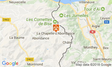 Mapa La Chapelle d'Abondance Apartamento 111731