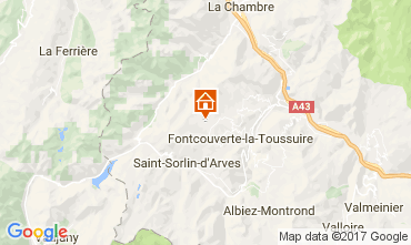 Mapa La Toussuire Apartamento 107180