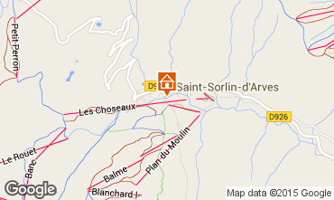 Mapa Saint Sorlin d'Arves Estudio 2690