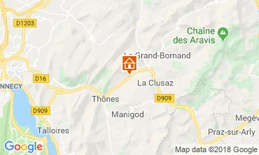 Mapa La Clusaz Apartamento 117583