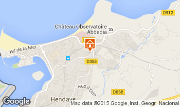 Mapa Hendaya Apartamento 15735