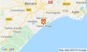 Mapa Valras-Plage Apartamento 93432