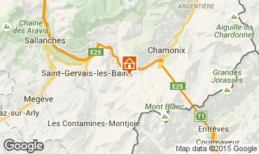 Mapa Chamonix Mont-Blanc Chalet 27606