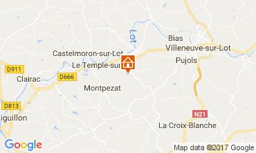 Mapa Dolmayrac Casa rural 75435