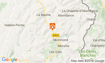 Mapa Morzine Chalet 101488