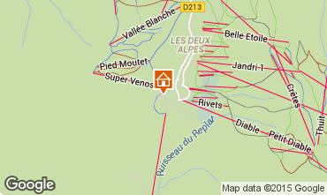 Mapa Les 2 Alpes Apartamento 66160