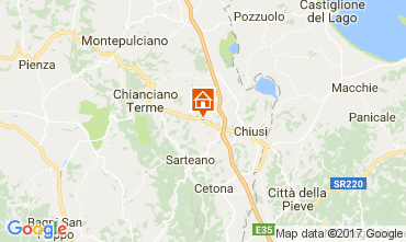 Mapa Chianciano Terme Villa 111227