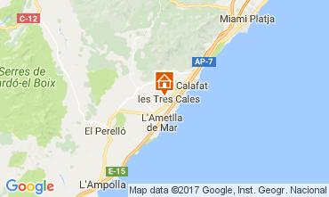 Mapa La Ametlla de Mar Villa 110101