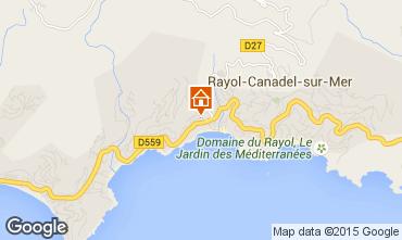 Mapa Rayol Canadel sur Mer Apartamento 10349