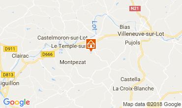 Mapa Dolmayrac Casa rural 115116