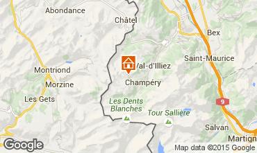 Mapa Les Crosets Chalet 14794