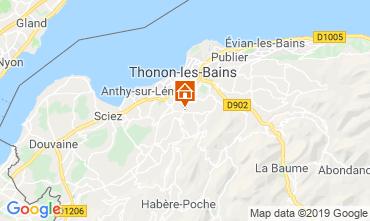 Mapa Thonon Les Bains Apartamento 113619