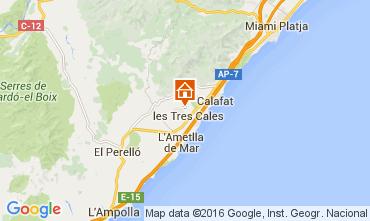Mapa La Ametlla de Mar Villa 39436