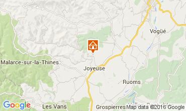 Mapa Joyeuse Casa rural 90730