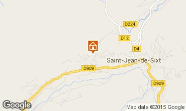 Mapa Saint Jean de Sixt Apartamento 840