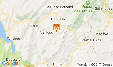Mapa Manigod-Croix Fry/L'étale-Merdassier Apartamento 108269