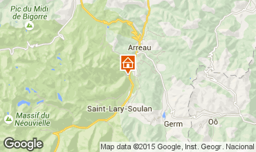 Mapa Saint Lary Soulan Apartamento 18081