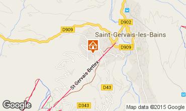 Mapa Saint-Gervais-les-Bains Apartamento 2588