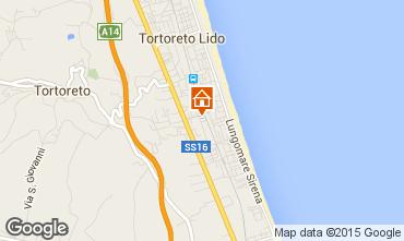 Mapa Tortoreto Apartamento 42623