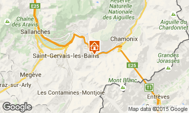 Mapa Chamonix Mont-Blanc Apartamento 22897