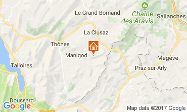 Mapa Manigod-Croix Fry/L'étale-Merdassier Apartamento 111851