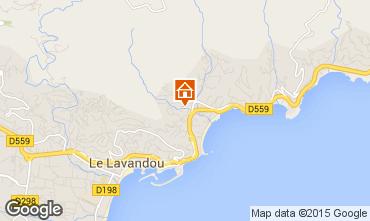 Mapa Le Lavandou Estudio 26193