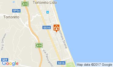 Mapa Tortoreto Apartamento 77121