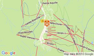 Mapa Les 2 Alpes Apartamento 1135
