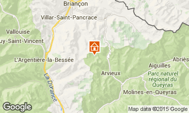 Mapa Arvieux en Queyras Chalet 79860