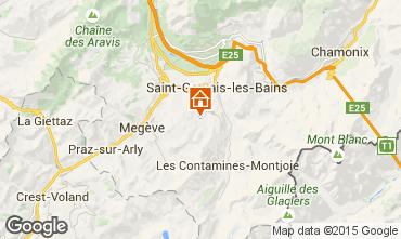 Mapa Saint Gervais Mont-Blanc Apartamento 74085