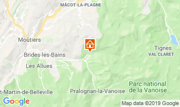 Mapa Champagny en Vanoise Chalet 577