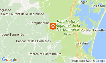 Mapa Narbonne Villa 80444