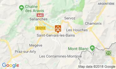 Mapa Saint Gervais Mont-Blanc Apartamento 116920