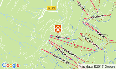 Mapa Les Arcs Apartamento 111955