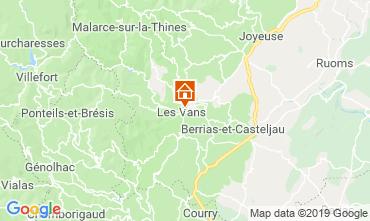 Mapa Les Vans Casa rural 119245