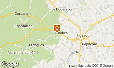 Mapa Figeac Casa rural 94020