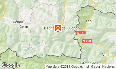 Mapa Luchon Superbagneres Apartamento 25988