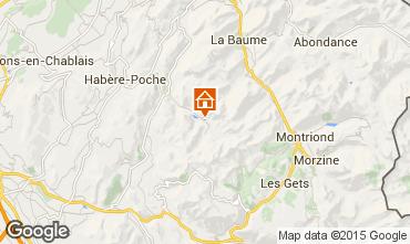 Mapa Bellevaux Hirmentaz La Chèvrerie Apartamento 27522