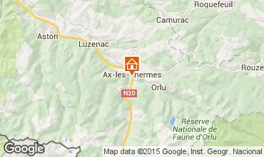 Mapa Ax Les Thermes Apartamento 80178