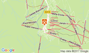Mapa Les 2 Alpes Apartamento 26687