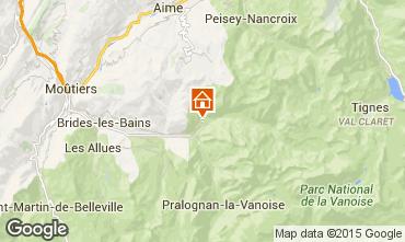 Mapa Champagny en Vanoise Chalet 575